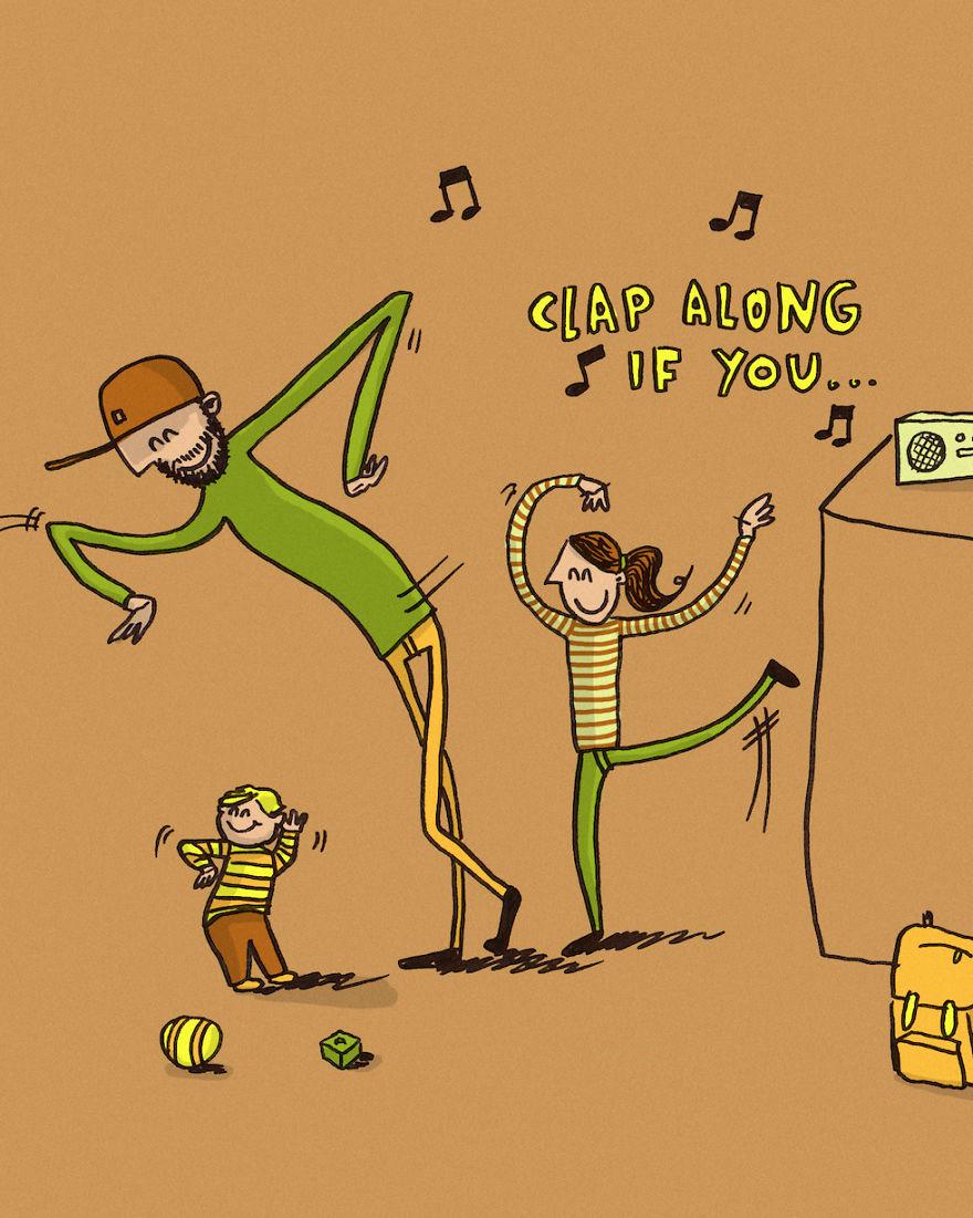 Папа и мама танцуют с ребенком - Батин Блог