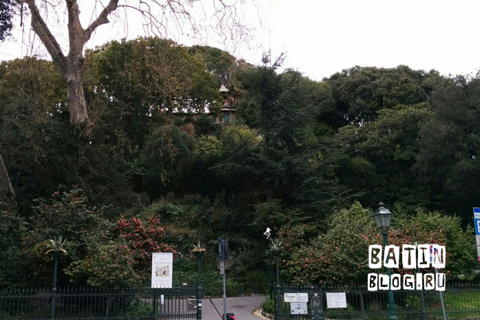 Парк в городе Генуя