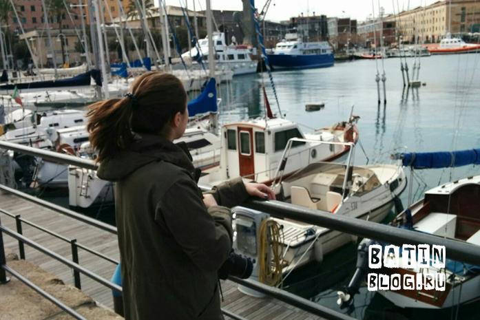 Порт в городе Генуя