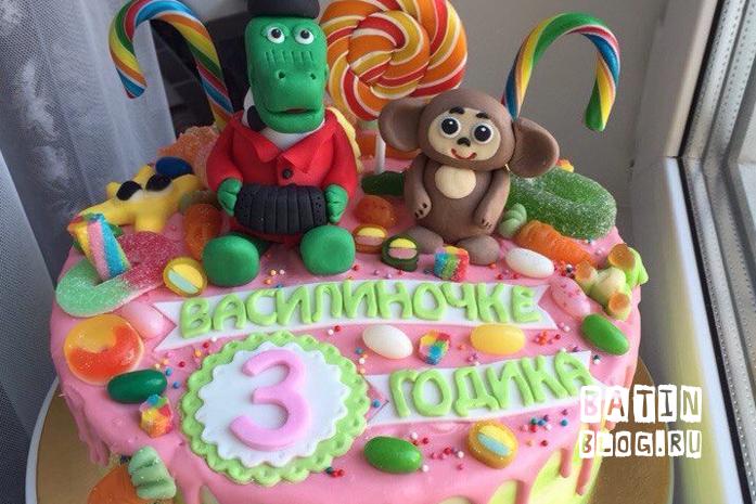 Торт на день рождения дочки - Батин Блог