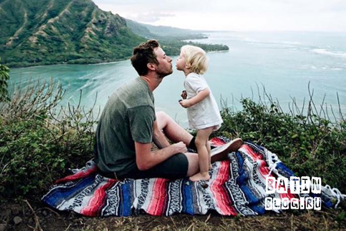 С ребенком на природе