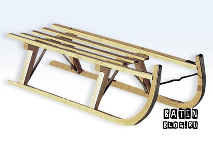 Деревянные санки KHW - Батин Блог