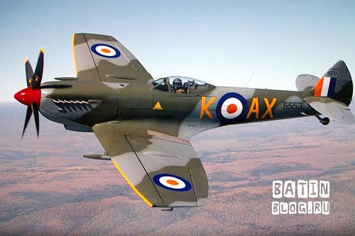 Самолет Spitfire - Батин Блог