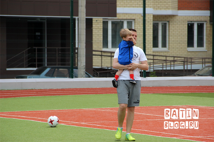 В конце футбольной тренировки - Батин Блог