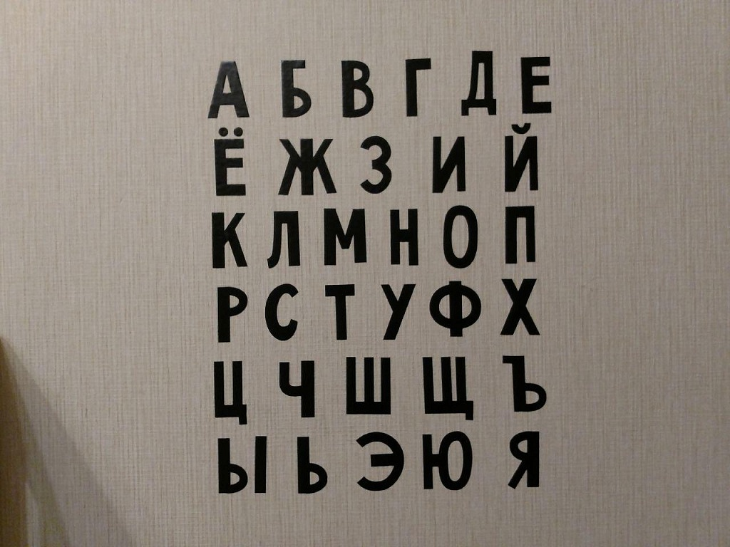 Алфавит на стене - Батин Блог