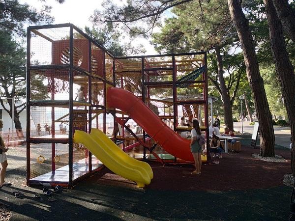 Детская площадка Абрау Джуниор в Геленджике 2020 год - Батин Блог